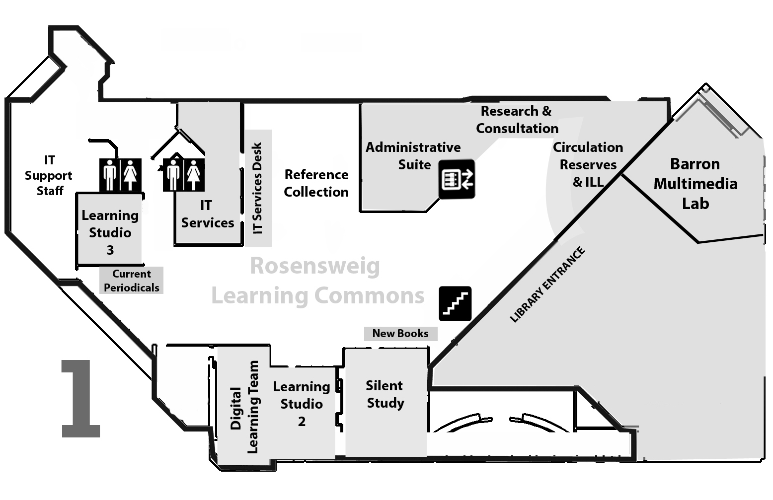 Map of the Library First Floor