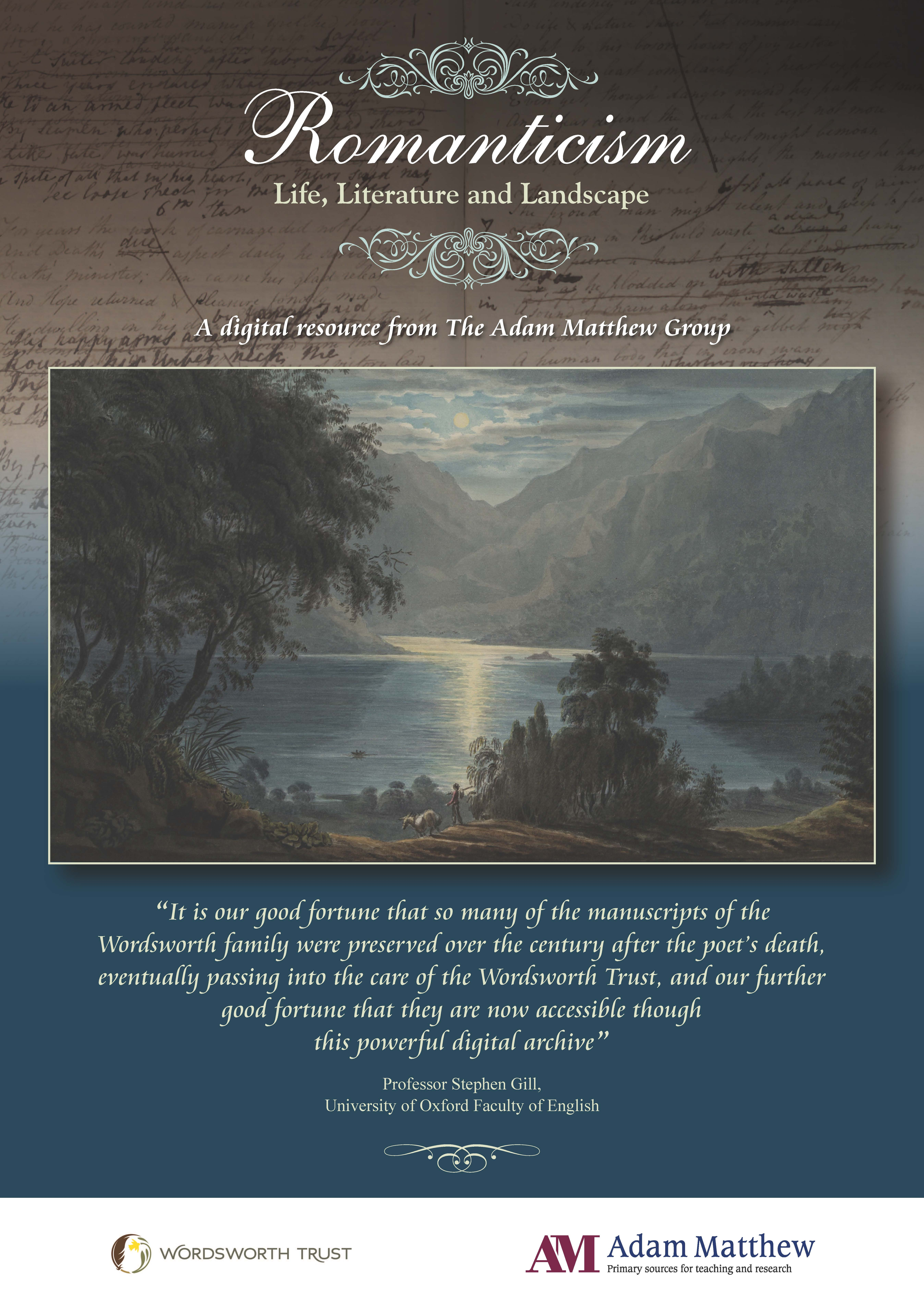 Poster of Scottish Loch in moonlight with mountains in the background