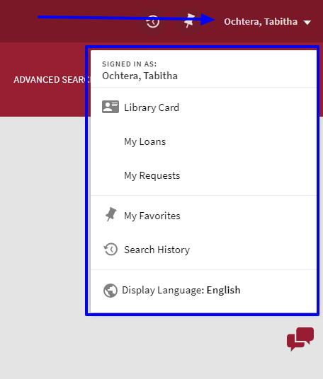 screenshot of signed in menu options in jetfind