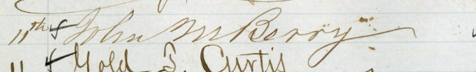 Signature of John M. Berry from the Roll of Attorneys