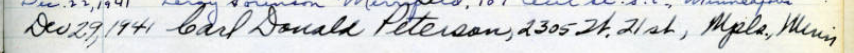 Signature of C. Donald Peterson in the Attorney Rolls