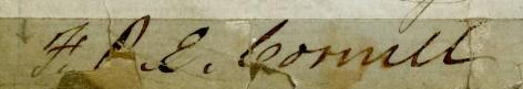 Signature of F.R.E. Cornell from the Attorney Roll Book