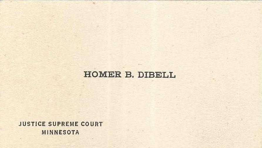 Homer B. Dibell business card