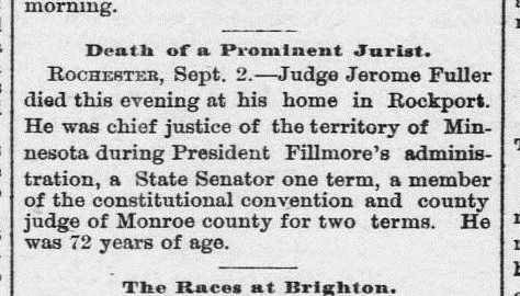snip from Morning Journal and Courier September 3, 1880 Death of a Prominent Jurist