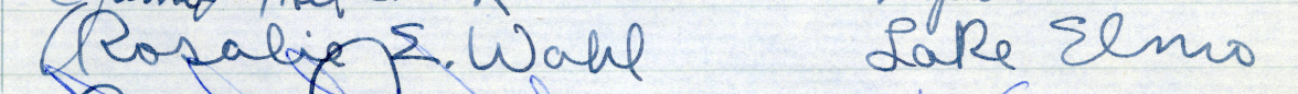 Signature of Rosalie E. Wahl from the Roll of Attorneys
