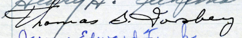 Thomas G. Forsberg's signature from the Roll of Attorneys
