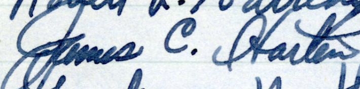 James C. Harten's signature in the MN Roll of Attorneys