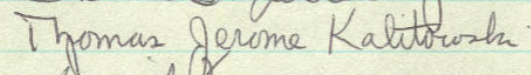 Thomas J. Kalitoswki's Signature in Minnesota's Roll of Attorneys