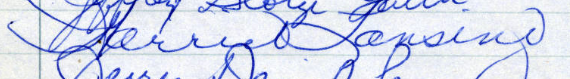 Harriet Lansing's Signature from the Roll of Attorneys