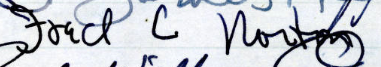 Fred Norton's signature in the Roll of Attorneys