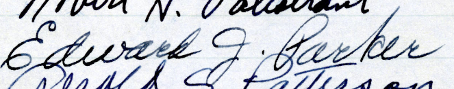 Signature of Edward J. Parker from the Roll of Attorneys