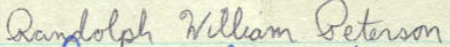 Randolph W. Peterson's signature in the MN Roll of Attorneys