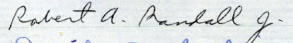 R.A. (Jim) Randall's signature in the MN Roll of Attorneys