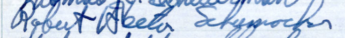 Robert H. Schumacher's Signature in Minnesota's Roll of Attorneys