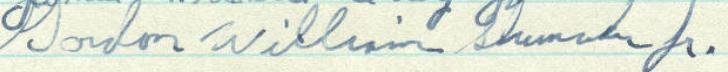 Gordon W. Shumaker's signature in the Minnesota Roll of Attorneys