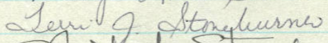Terri Stoneburner's Signature from Minnesota's Roll of Attorneys