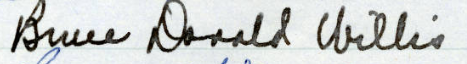 Bruce D. Willis' signature in the MN Roll of Attorneys