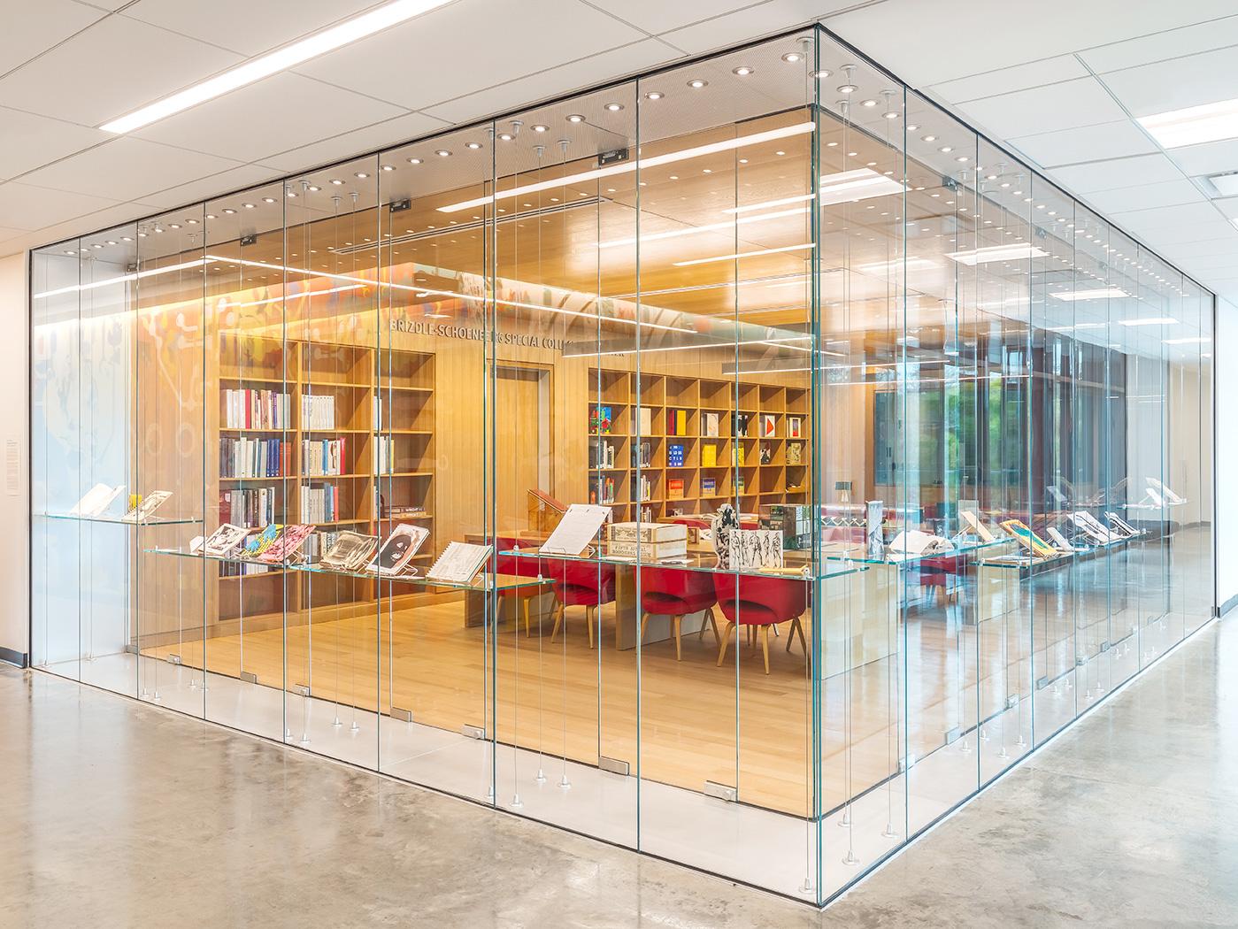 glass display area