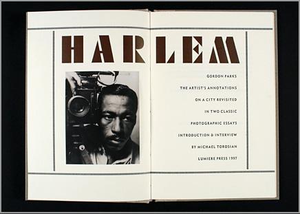 Harlem: Gordon Parks cover image