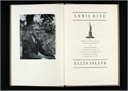 Lewis Hine, Ellis Island by Walter Rosenblum cover image