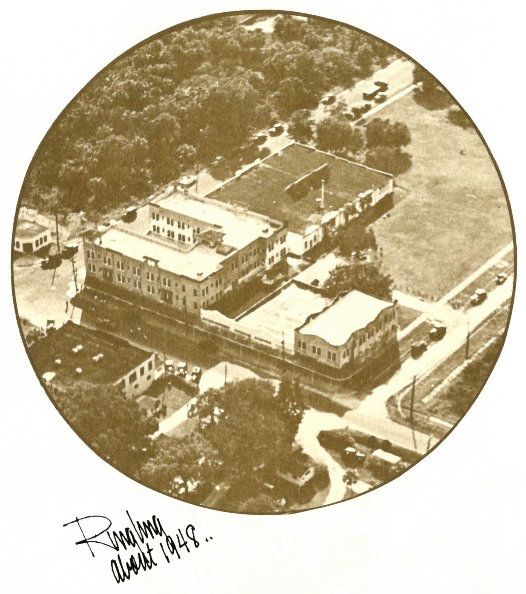 Aerial photo of Ringling School circa 1948 from Portfolio publication
