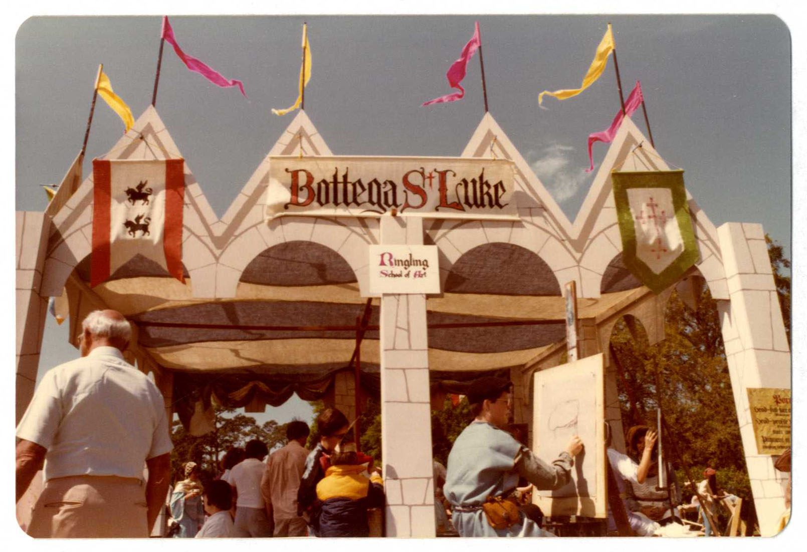 Ringling School of Art installation at Medieval Faire 1979 called