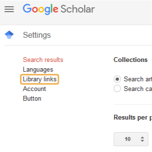 Finding Full Text - Google Scholar library links