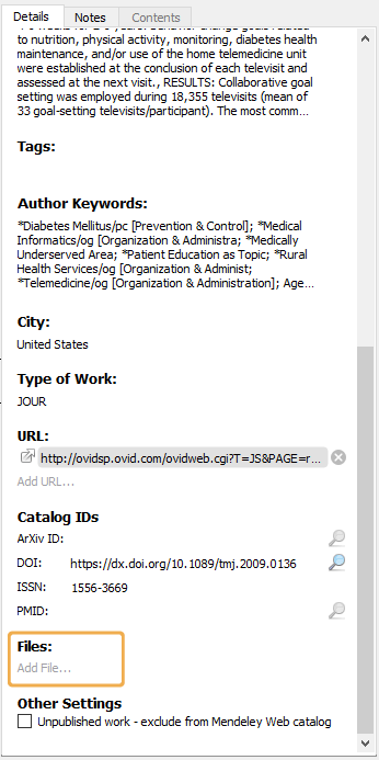 Mendeley - Add PDF