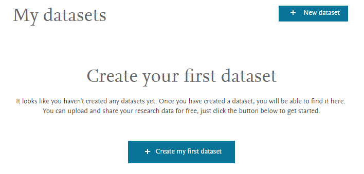 Mendeley - Create Dataset