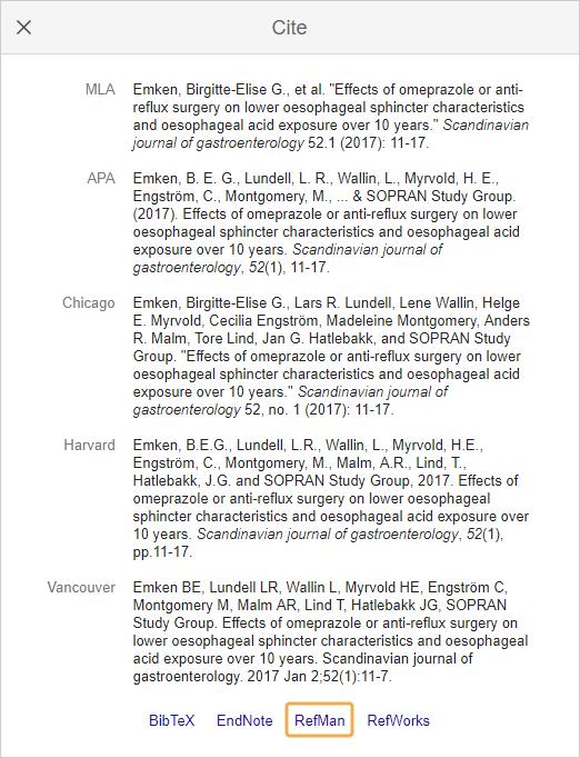 Mendeley - Google Scholar export options