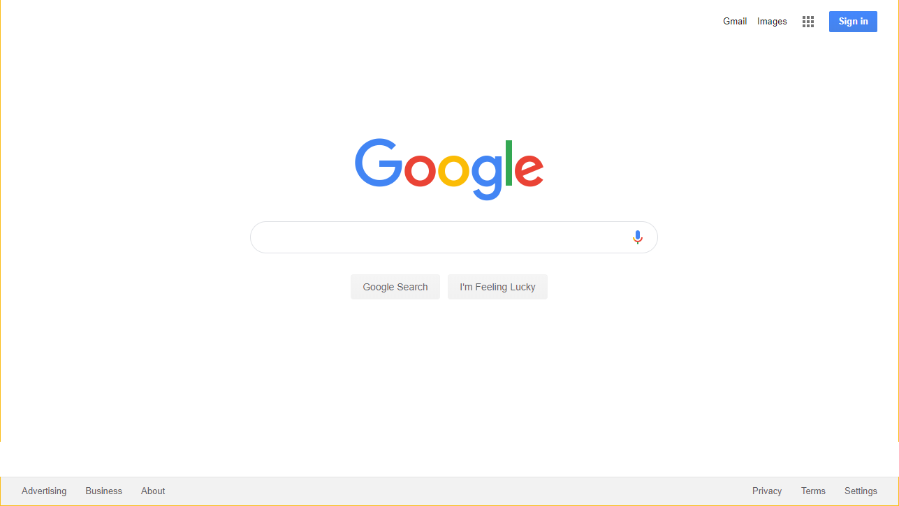 Screenshot of the Google search box