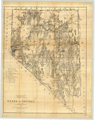 Historic map of Nevada
