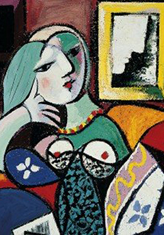 Picasso's painting Woman with a Book
