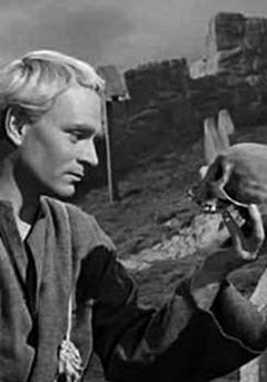 Prince Hamlet and a skull