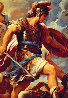 warrior fighting