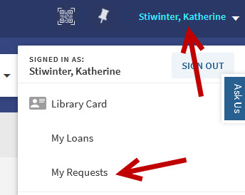 click name, then click my requests