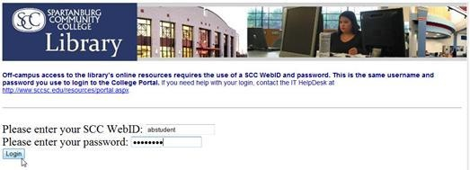off campus log in page