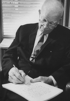 Eisenhower writing