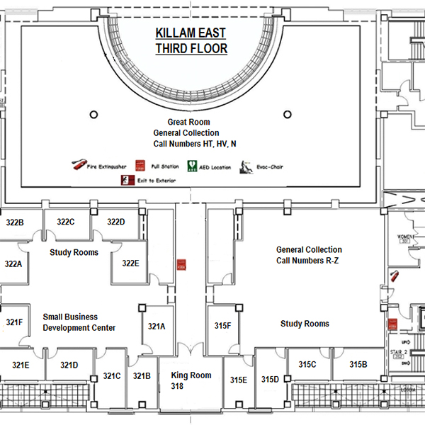 Library Map 3rd Floor