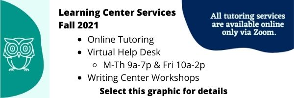 Learning Center Fall 2021 Hours