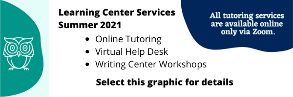 Learning Center Summer 2021 Services