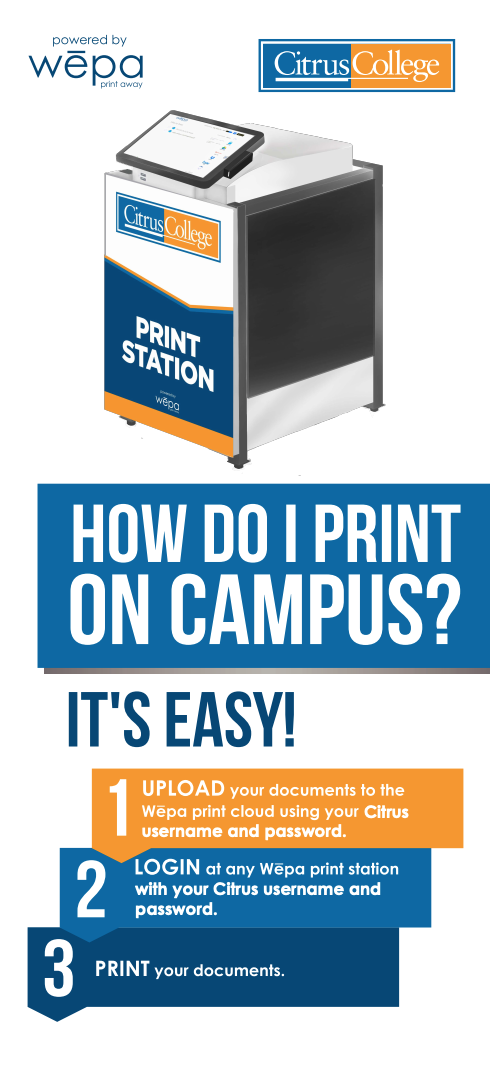 how do i print on campus?