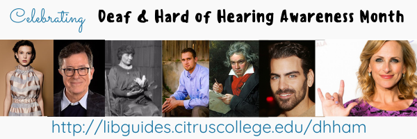 Deaf and Hard Hearing Awarenss Month