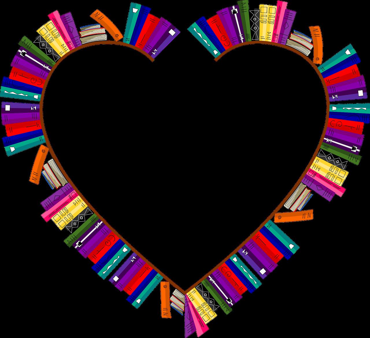heart-shaped bookshelf