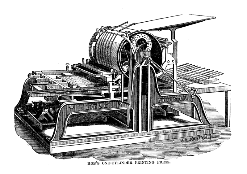 Hoe's One-Cylinder Printing Press