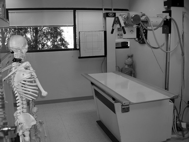 X-ray room at allied health college