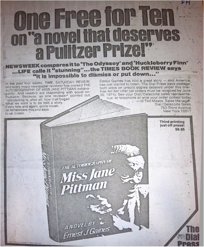 The Autobiography of Miss Jane Pittman Advertisement
