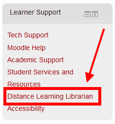 Learner Support Block in Moodle 2.7 Screenshot