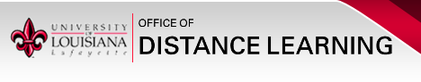 UL Lafayette Office of Distance Learning Banner