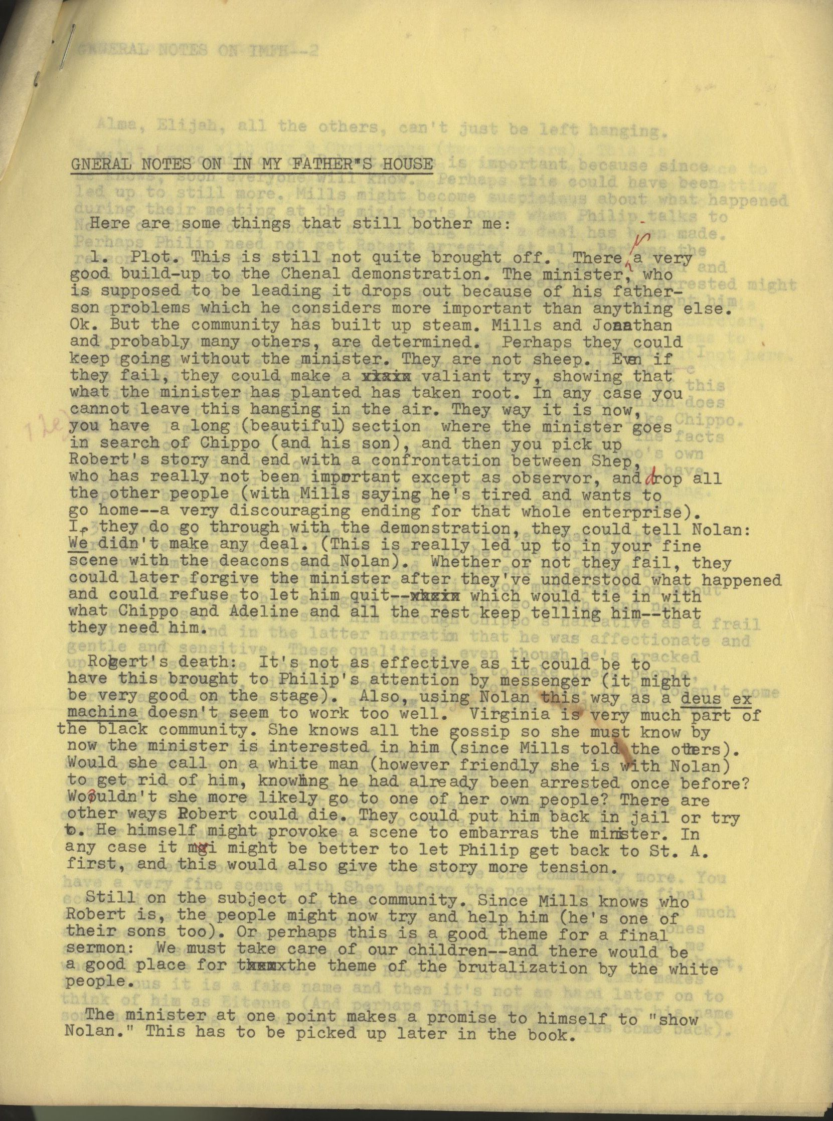 Dorthea Oppenheimer general notes on In My Father's House